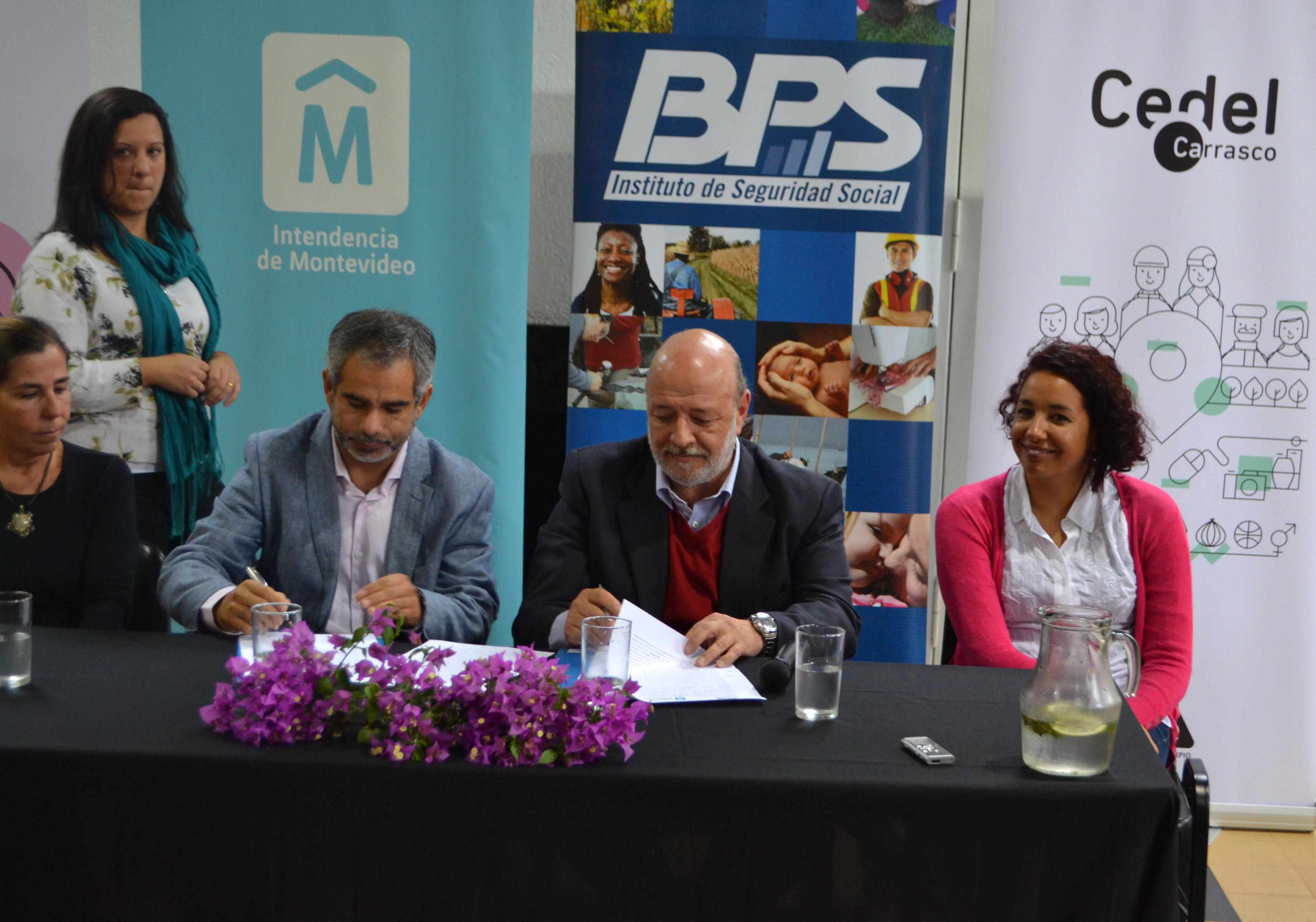 Inauguración de Sala de Lactancia Cedel y firma Convenio entre BPS - IM